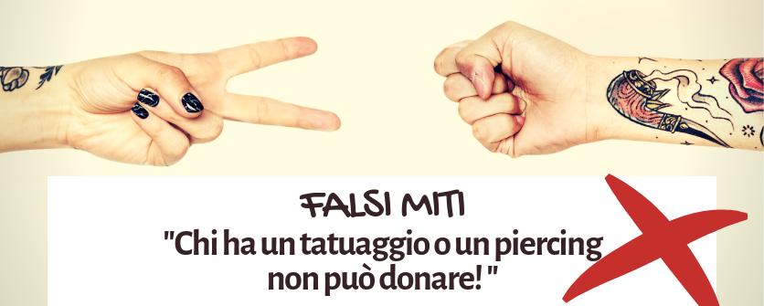 falsi miti sulla donazione chi ha un tatuaggio non puo donare